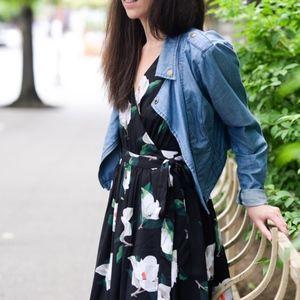 Banana Republic Floral Sleeveless Midi Dress